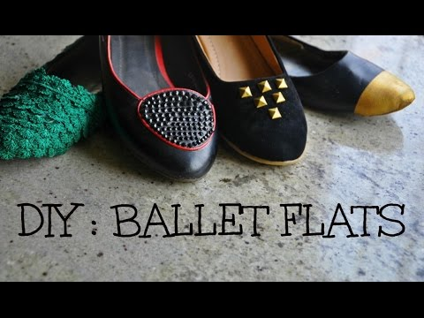 DIY : Revamp your Ballet Flats!
