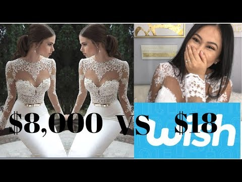 Thumbnail: $18 Wedding Dress From Wish: What I got (Org Price $8,000)