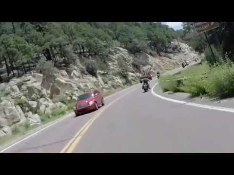 Motorcycling w/music down Catalina Highway Tucson Arizona