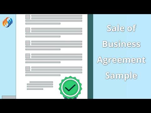Sale of Business Agreement Sample Walkthrough