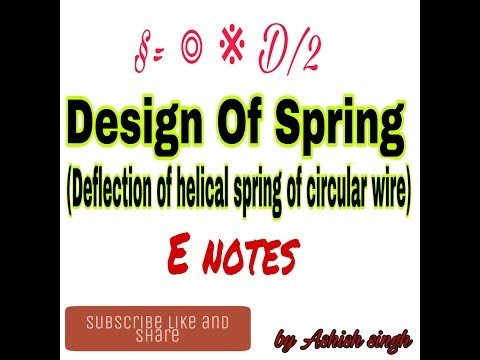 Deflection of helical spring of circular wire,part=4,MD-1