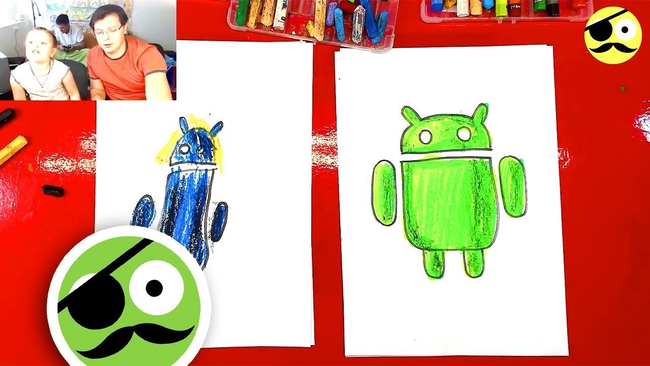 How to draw Android logo