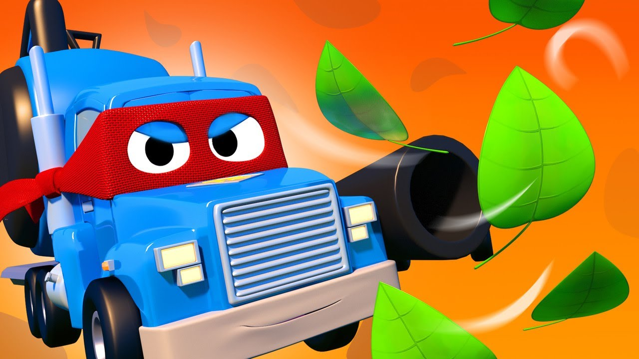 Leave us alone leaves !  Carl the Super Truck - Car City ! Cars and Trucks Cartoon for kids