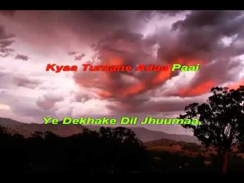 Video Karaoke of Diwana Hua Badal from Hyderabad Karaoke Club - www.hkclub.in