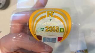Snímatelná dálniční známka 2018