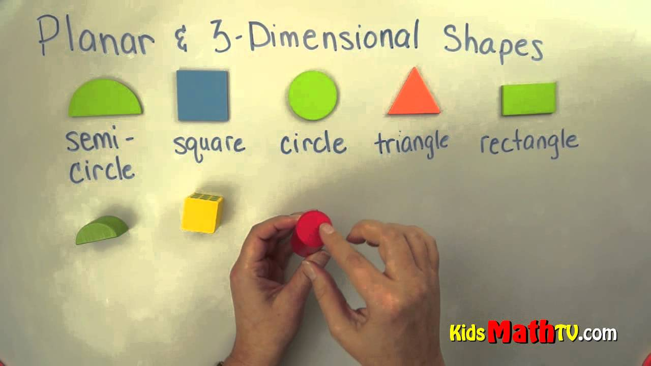 small resolution of Planar and 3 D Shapes. Geometry lesson on shapes for kindergarten \u0026 1st  graders - YouTube