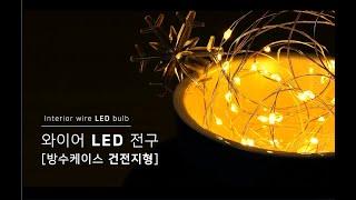 [나눔조명] 와이어 LED(방수케이스 건전지형)
