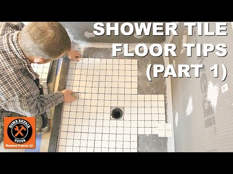 How to Tile a Shower Floor (Part 1: Layout for 2x2 Tiles)