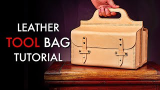 Leather Tool Bag DIY - Tutorial and Pattern Download
