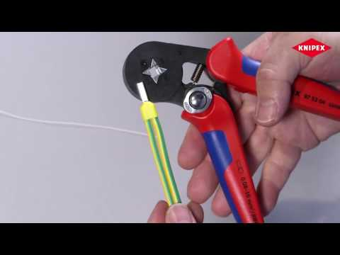 Knipex 97 53 04 Self-adjusting crimping pliers for cable ends