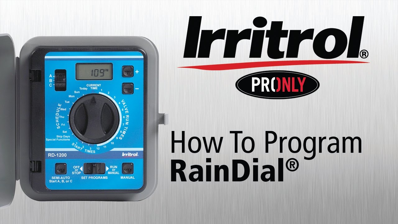 how to program your rain dial controller youtube rh youtube com rainbird rd 600 manual Rain Bird ESP 4Si Manual