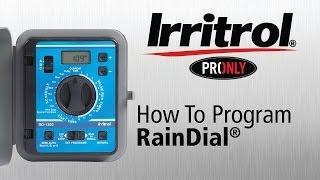 How to Program Your Rain Dial Controller
