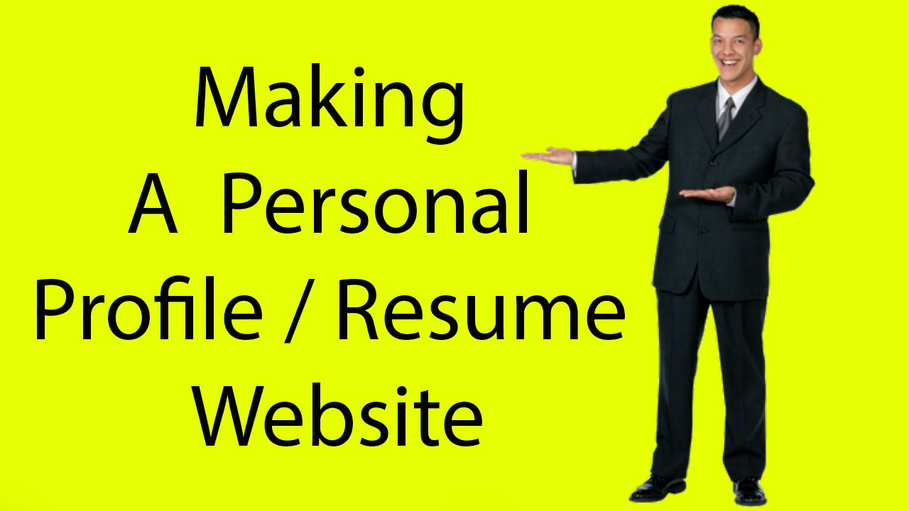 easy web based personal profile resume building youtube
