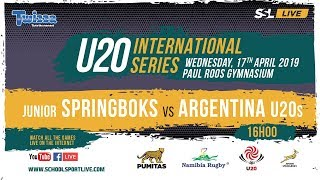 Rugby, South Africa U20s vs Argentina U20s, 17th April 2019