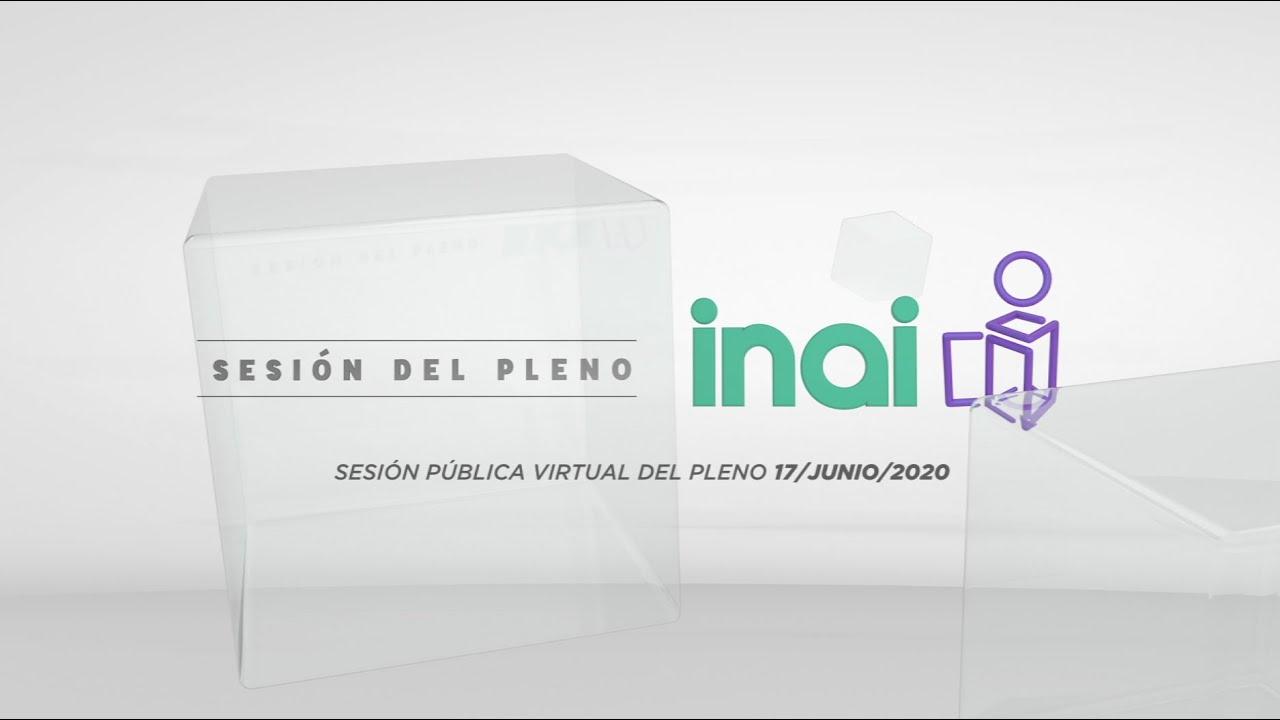 Sesión Pública Virtual del 17 de junio de 2020