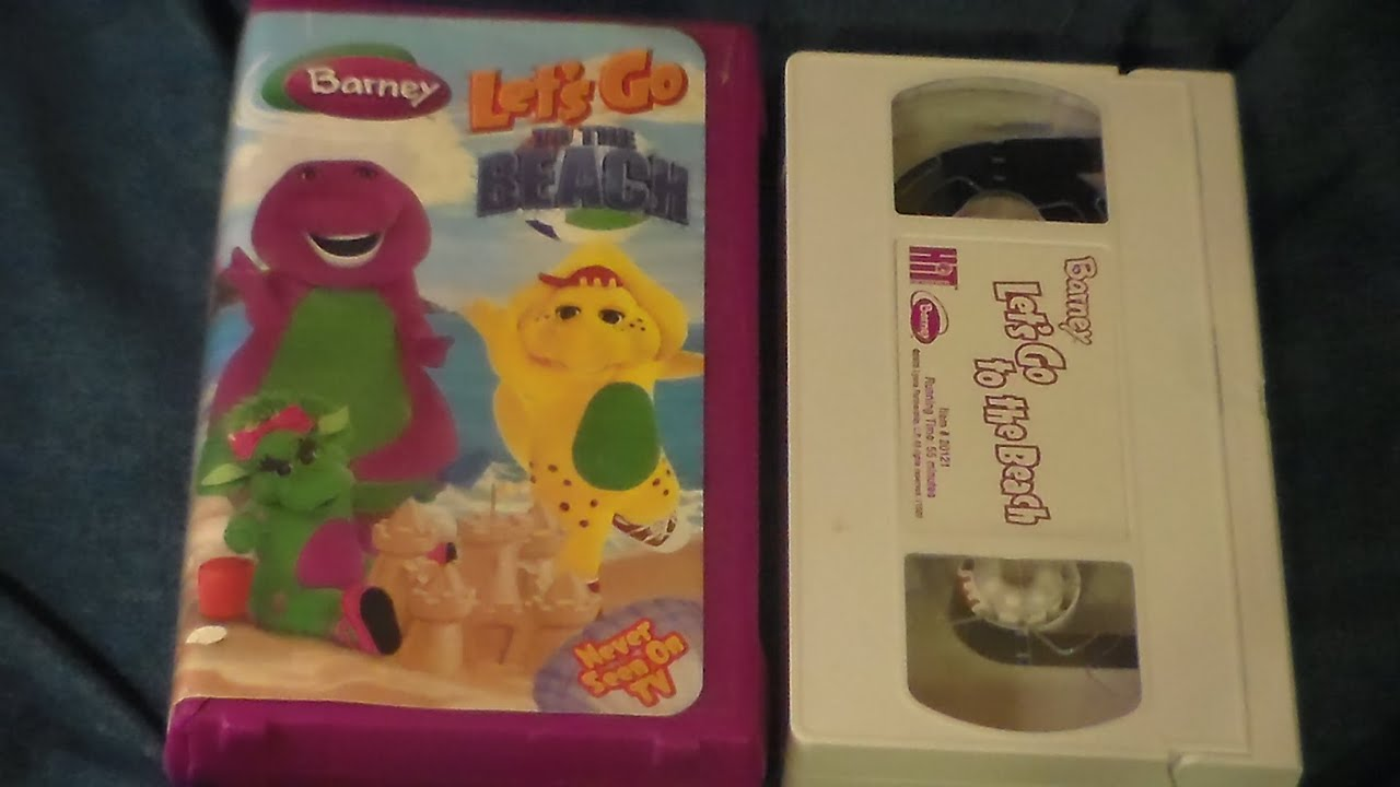 opening and closing to barney lets go to the beach 2006 vhs