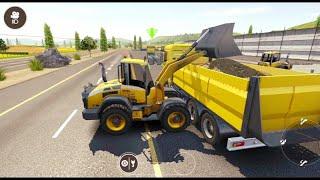 Drive Simulator 2020 | Constructing Bus Station & Car Parking | Dump Truck, Loader & Road Roller screenshot 3