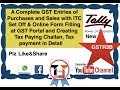 Tally ERP 9 Complete GST Purchase & Sale with ITC Set off tax payment and much more Live demo