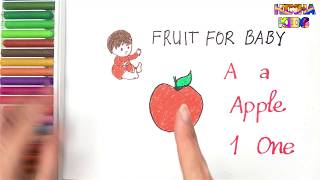 Fruit For Baby #2 ✅Kids Learn Letters and Numbers ✅How To Teach Baby To Speak English