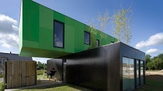 Cargo Container Homes : Eco Friendly Crossbox House By Cg Architectes