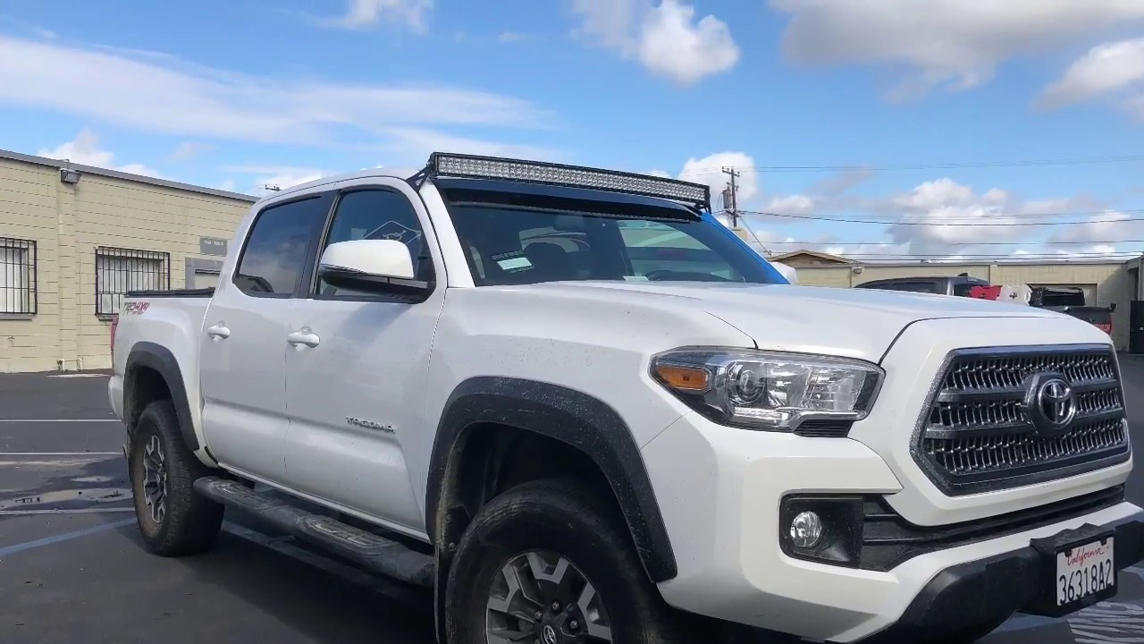 Bars In Tacoma >> 2005 2020 Toyota Tacoma 52 Curved Led Bar Install