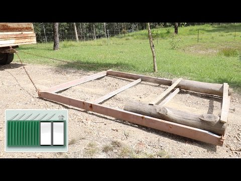 Shipping Container House - Convert window into a DIY road grader