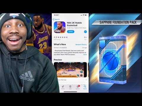 NBA 2K MOBILE FREE DOWNLOAD OUT NOW | My 1st SAPPHIRE Pack Opening + Gameplay Ep. 13