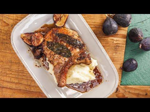 Rachael's Pork Chops with Sage, Cider and Balsamic Vinegar