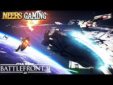 Star Wars Battlefront 2 - Tie Fighter vs Millennium Falcon
