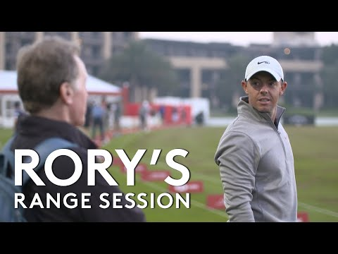 Rory McIlroy range session with Top Tracer | 2021 Abu Dhabi HSBC Championship