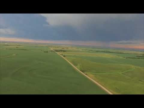 Time-Lapse from a Drone of Eclipse in Beatrice, Nebraska