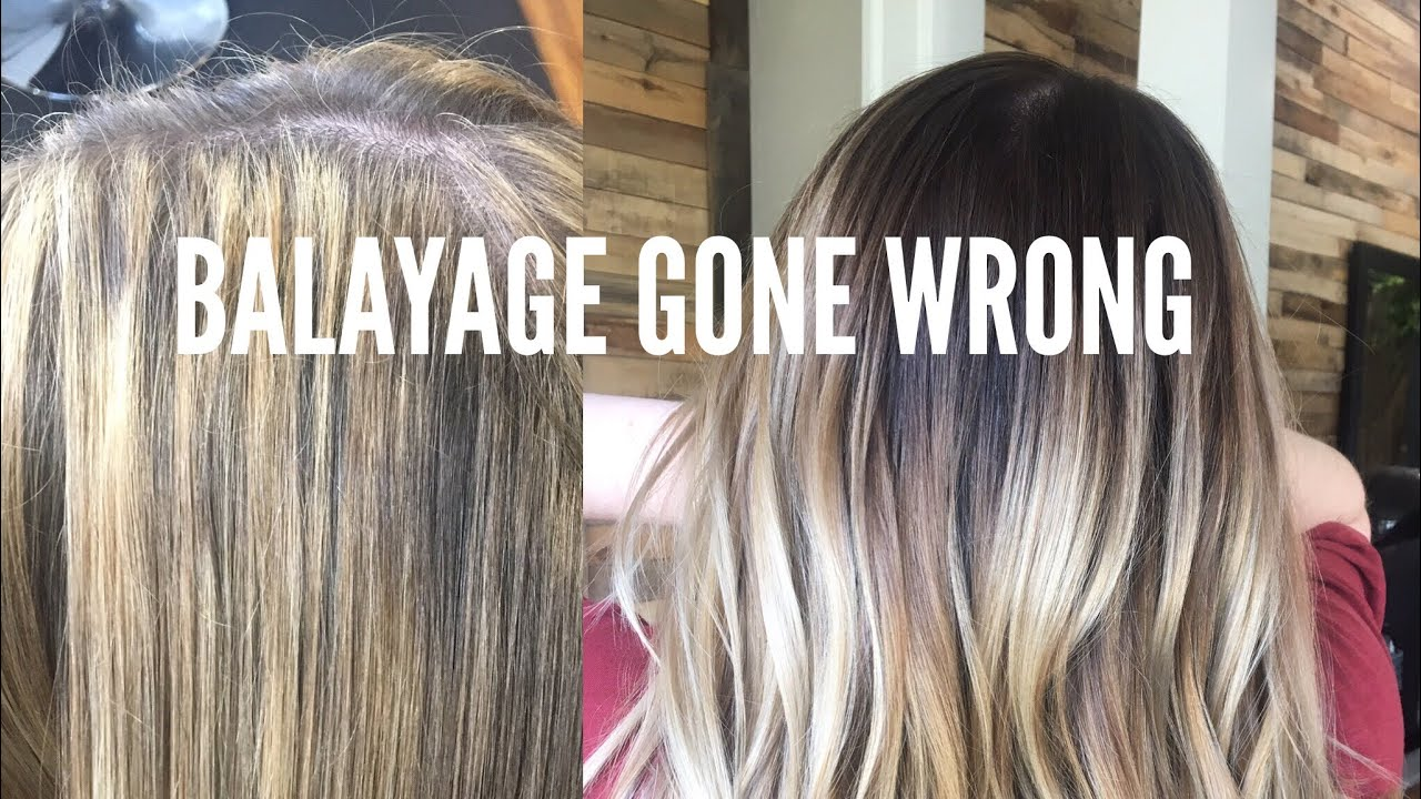 Balayage Gone Wrong Color Correction Hair Tutorial Youtube
