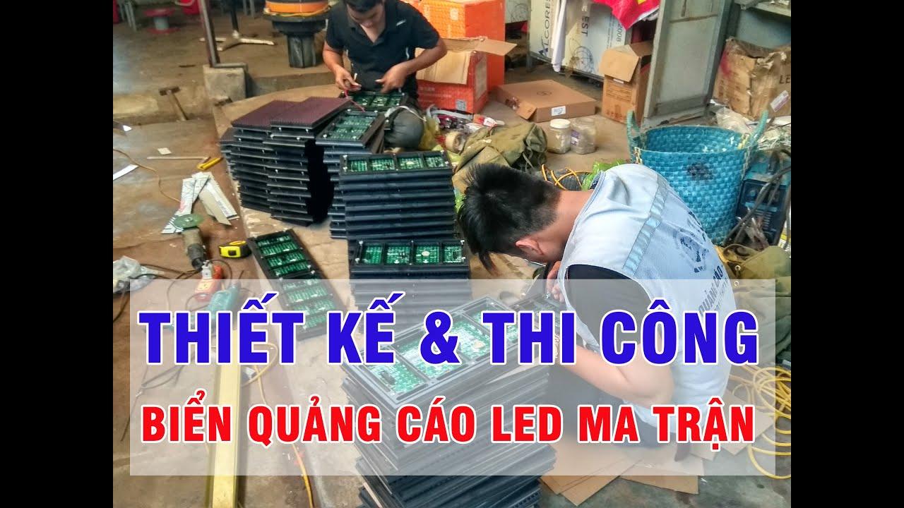 Làm biển quảng cáo đèn led, bảng LED điện tử tại hải phòng