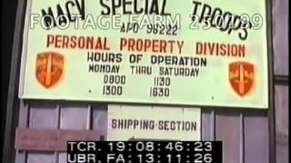 Vietnam War: USAF Airmen Being Processed; Aerial Bombing 250199-04 | Footage Farm