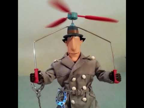 INSPECTOR GADGET ACTION FIGURE DOLL 1983 GALOOB BANDAI POPY FRENCH VERSION Inspecteur TOY