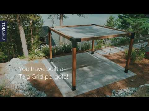 Toja Grid - How to build your very own modular pergola