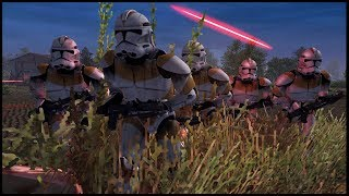 Clone Wars HAMBURGER HILL Charge! - Men of War: Star Wars Mod Battle Simulator
