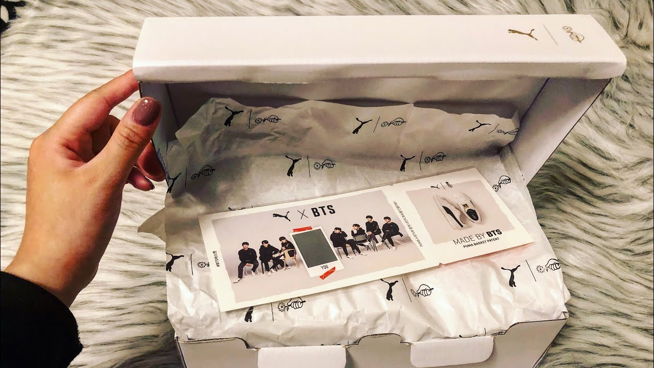 reputable site 9b8a7 a8195 [UNBOXING] BTS X PUMA BASKET PATENT