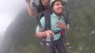Scared Man Goes Paragliding