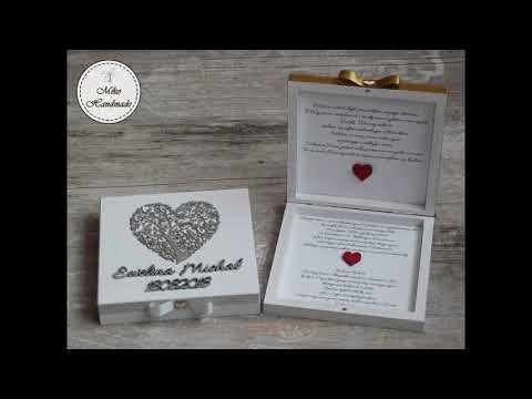 Zaproszenia ślubne Dla Rodziców Pudełka Z Prośbą O Błogosławieństwo