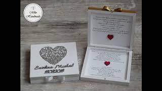 Zaproszenia ślubne dla rodziców, Pudełka z prośbą o błogosławieństwo
