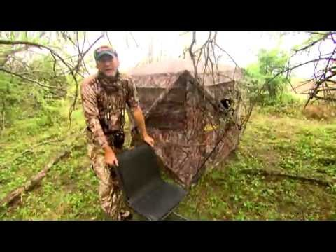 Setting Up A Pop Up Blind For Hunting