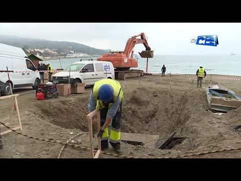 Completada la recepción del cable submarino de fibra óptica en Playa Benítez