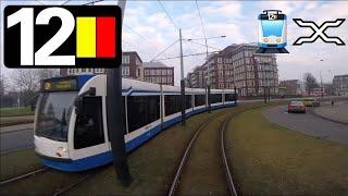 🚋 GVB Amsterdam Tramlijn 12 Cabinerit Station Sloterdijk - Amstelstation Driver