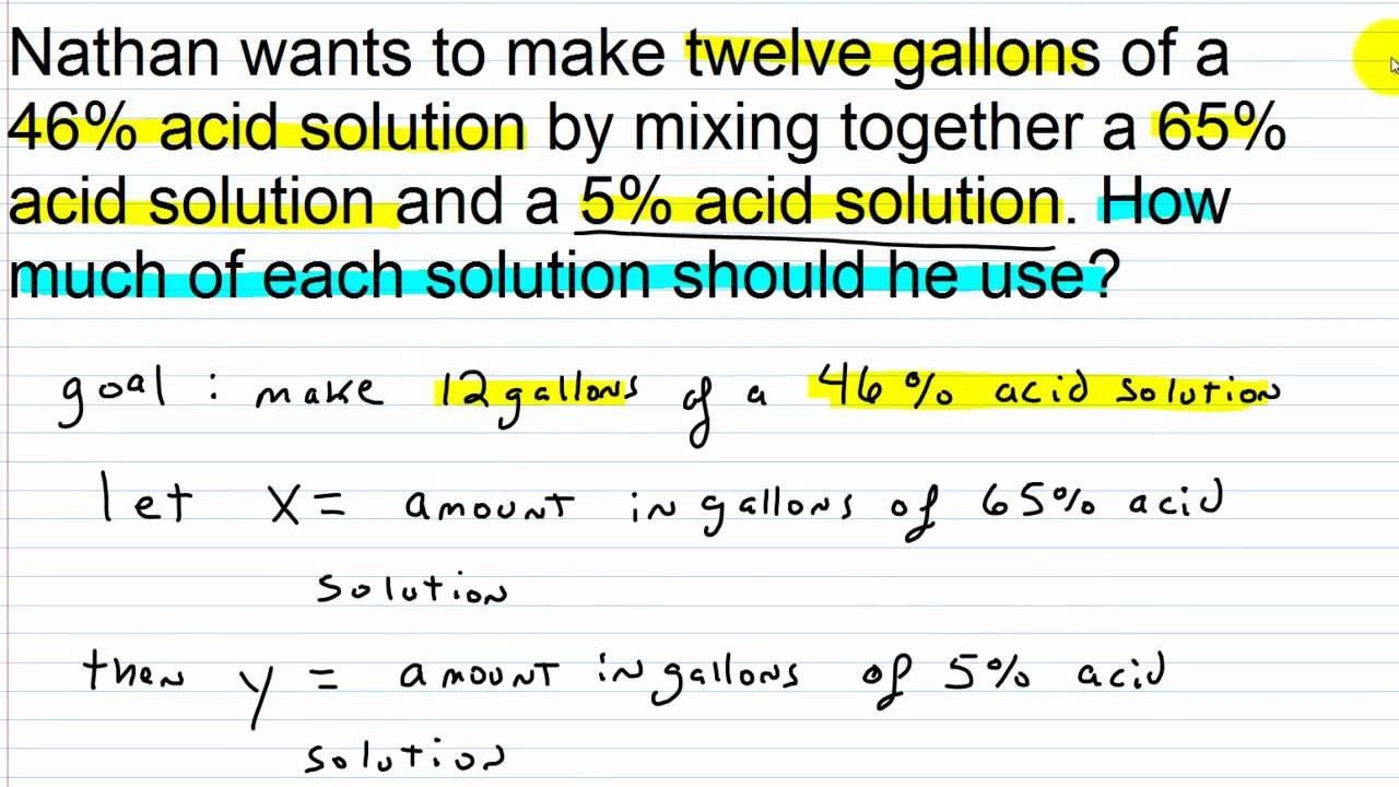 Workbooks solving linear equations with two variables worksheets : Algebra I Help: Systems of Linear Equations Word Problems Part III ...