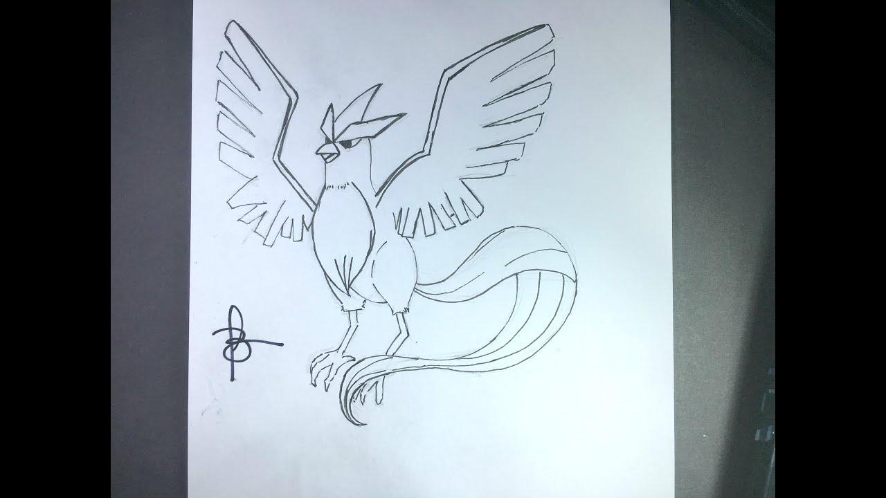 Como Desenhar O Articuno Pokemon Youtube