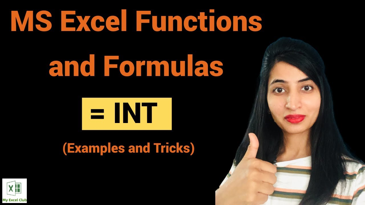 INT Excel Formula Examples and Tricks   YouTube