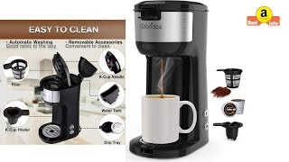 [Demo] Single Serve Coffee Maker for K Cup Pod and Ground Coffee