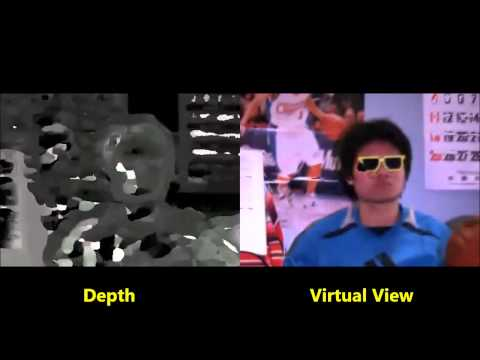 Free-viewpoint image synthesis system using time varying projection and spacetime stereo