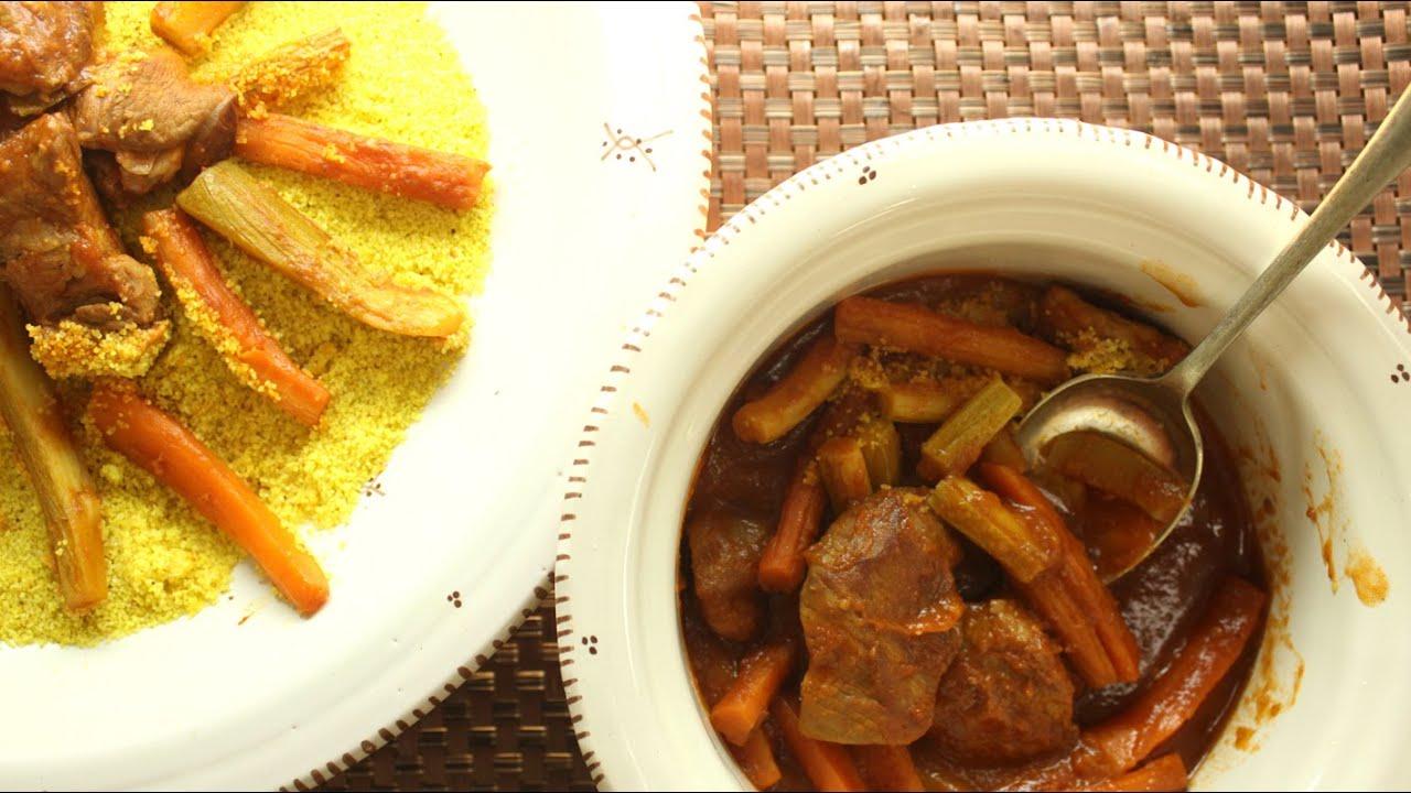 أسرع وأسهل الوصفات : MINI Recipe - كسكسي بالخضار ولحم بالخضار